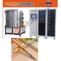 PVD Gold Plating Machine on Pen, TiN Vacuum Coating Equipment Heat Resistant