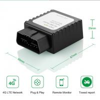 China Play and Plug Tracking Wireless 4G LTE Vehicle Car GPS OBD Tracker Device Fleet Management GPS on sale
