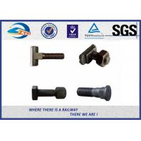 Quality Railway Button Head Oval Neck Track Bolts, Q235 Steel Grade 4.6 Black Bolt wholesale