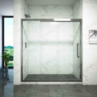 Cheap Dry Wet Separation One Type Glass Shower Door for sale