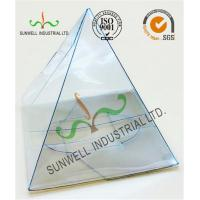 Cheap Handmade Custom Gift / Craft Clear Packaging Boxes Triangle Glossy Lamination for sale