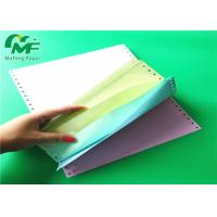 Cheap 9.5*11 Inch Computer Form Paper , Continuous Pin Feed Paper Bio - Degradable for sale