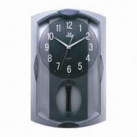 Cheap Pendulum Quartz Wall Clock, Made of Plastic, Customized Designs and Colors are Welcome for sale
