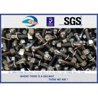 Quality 1'' * 130mm Railway Track Bolts , Fish Bolts With Plain Oiled Treatment wholesale