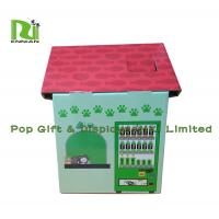 Cheap Customization Cardboard Cat Scratcher House Display For Pet Retailers , Eco Friendly for sale
