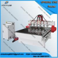 6 spindle heads wood relief cnc router with 1300 1800mm for Best router motor for cnc