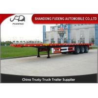 Cheap 3 axles 20ft 40ft platform flatbed semi trailer shipping container trailers for sale for sale