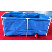 Cheap Collapsible 3000L 0.9mm PVC Tarpaulin Fish Tank for sale