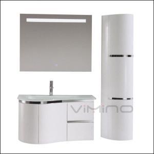 China White Finish Bathroom Vanity Cabinet China Hot Sale Bathroom Cabinet Popular Vanity Set on sale