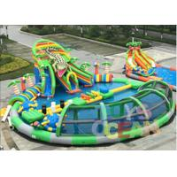 Cheap Giant Mobile Amazing Inflatable Water Park Swimming Pool With Crocodile Slide for sale