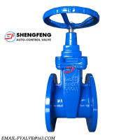 Cheap DIN F4 ductile iron resilient seat NRS water wedge gate valve for sale