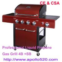 China Freestanding Gas Grill Barbecue with 4burners on sale