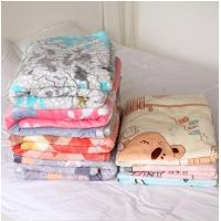 Cheap Thin Coloful 100 Polyester Fleece Blanket Patterns , Breathable Custom Baby Blanket for sale