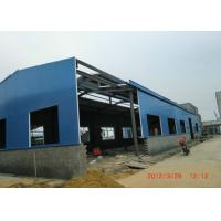 Cheap Q345 Heavy Steel Structure Warehouse , Welded H Beam Industrial Steel Buildings for sale