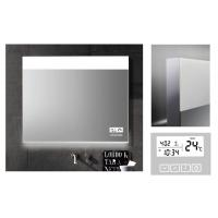 China Customized Demister LED Bluetooth Bathroom Mirror With Clock And Calendar on sale