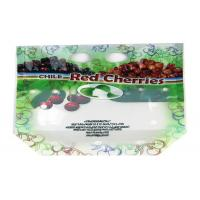 Cheap Ziplock Fresh Fruit Packaging Bag Stand Up Custom Printed With Euro Hole / Zipper for sale