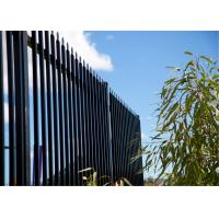 Cheap Crimped Top Powder Coated Steel Fencing for sale