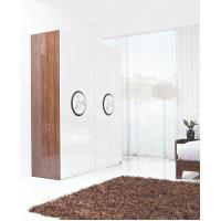 Cheap New Design Melamine Material Modern bedroom Custom wardrobe in fashion handle with Open door for sale