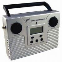 noaa seven channel weather alert radio with lcd alarm clock rechargeable type of edp. Black Bedroom Furniture Sets. Home Design Ideas