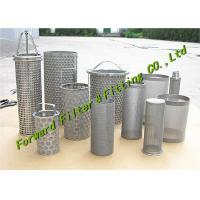 Cheap ALSI304-316 Stainless Steel Mesh Cup / Disc Filter / Industrial Filter Cartridge And Perforated Tube wholesale