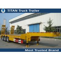 Cheap 2 - 8 Axle 60 Ton Low Bed trailer for bulldozer , crushing machine ,  transformer for sale