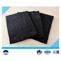 Cheap 80 / 80kN Black Dewatering Woven Monofilament Geotextile High - Tenacity wholesale
