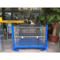Cheap Welded Blue Wire Container Storage Cages Sturdy Wire Mesh Stillage for sale