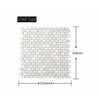 Cheap Morden Luxury White Pearl Mosaic Tile Brick Design For Wall Cabinet Chair for sale