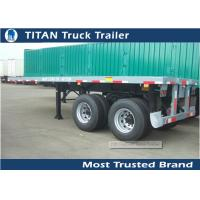 Cheap Dual Axles 20 foot extendable flatbed trailer / semi truck flatbed Trailer for sale