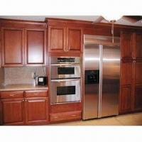 Cheap Solid Wood Kitchen Cabinet, Made of Birch Wood/Ply Wood and Carcass for sale