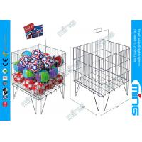 Cheap Foldable Promotion Wire Dump Bins , Floor Standing Wire Mesh Bins for sale