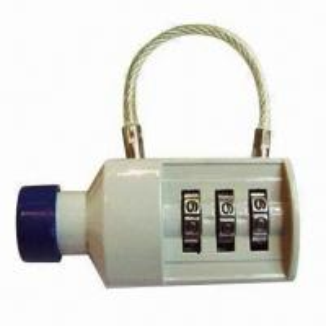 Cheap 3 digits bottle shape combination padlock, made of zinc alloy for sale