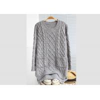 Cheap Leisure Loose Womens Knit Pullover Sweater Cables Young Girl Colleague Style for sale