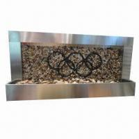 Cheap Outdoor and Indoor Horizontal Wall Fountains, Made of Stainless Steel for sale