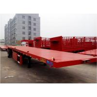 Cheap 20ft  40ft  45ft Container Transport Trailer Air Bag Suspension Flatbed Truck Trailer for sale