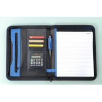 Cheap business zippered file folder portfolio for sale