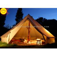 Cheap Big 12 Persons Inflatable Tent Canvas Bell Tent 5 X 5M Waterproof For Wedding Party for sale