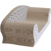 Cheap Indoor Cardboard Cat Scratcher Recyclable , Cat Scratcher BedCurved Surface for sale
