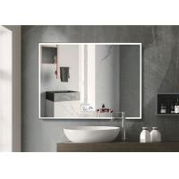 Cheap Warm Light LED Bluetooth Bathroom Mirror With Explosion Proof Surface for sale