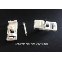 Buy cheap Fiber Optic Accessories ABS Drop Wire Cable Clip With Concrete Nail from wholesalers