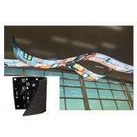 Cheap Soft Rubber Flexible Led Curtain Display Module Screen Lightweight 5mm Thickness for sale