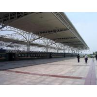 Bus/train station corrugated steel roof truss