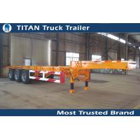 Cheap Multi axle 20 feet gooseneck tank container trailer chassis with Double brake chamber for sale
