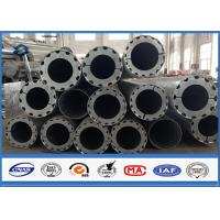 Cheap Hot Roll Steel Metal Utility Poles , 345Mpa Min Yield Stress Electrical Poles And Towers wholesale