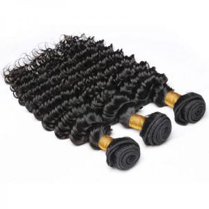 Buy cheap Deep Wave Brazilian Virgin Human Hair Bundles for Fashion Women 8A from wholesalers