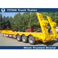 Cheap 11,500*3,000*1,200 mm 4 x 15 Tons Lowboy trailer for heavy equipment transport for sale