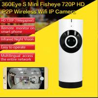 Cheap EC2 Mini 180° Panorama Camera Wireless WIFI P2P IP Night Vision Home Security Surveillance iOS/Android APP Control for sale