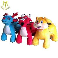 Cheap Hansel plush riding animals for sale and adult ride on toys manufacture with plush animals ride for mall for sale