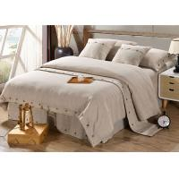 Cheap Pure Linen Wooden Buttons Modern Bedding Sets 4Pcs Real Simple Logo Customized wholesale
