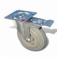 Cheap Medium-duty Caster/Gray Rubber Plastic Core Caster with 40 to 150kg Loading Capacity for sale